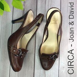 Circa - Joan & David Heel Brown Size 8